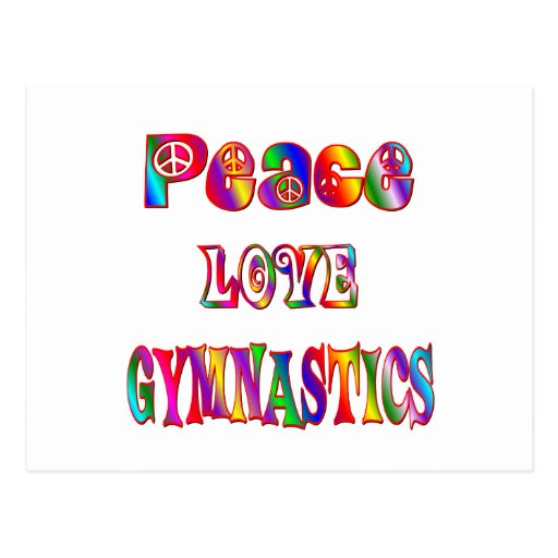 Peace Love Gymnastics Postcard
