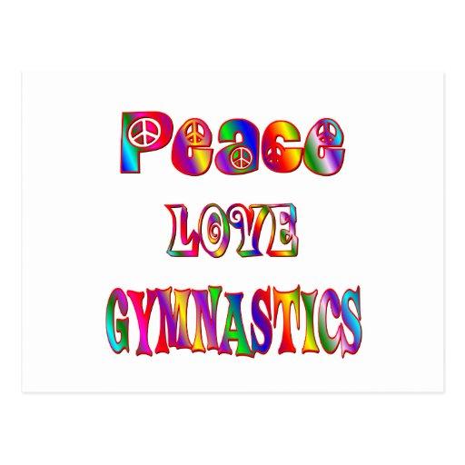 Peace Love Gymnastics Postcard