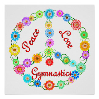 Peace Love Gymnastics Poster