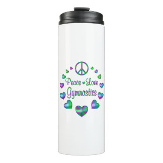 Peace Love Gymnastics Thermal Tumbler