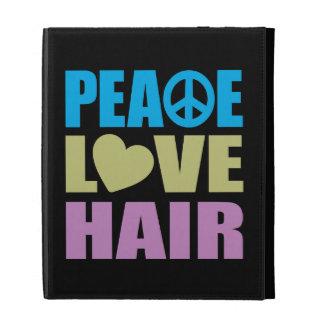 Peace Love Hair iPad Folio Cases
