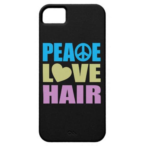 Peace Love Hair iPhone 5 Case
