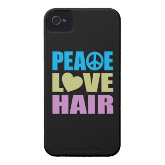 Peace Love Hair iPhone 4 Covers