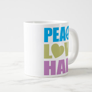 Peace Love Hair Jumbo Mug