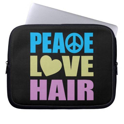 Peace Love Hair Laptop Computer Sleeve