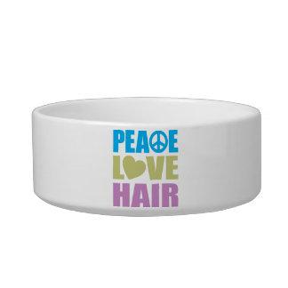 Peace Love Hair Pet Water Bowl