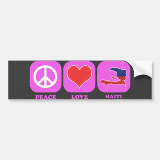 Peace Love Haiti Bumper Sticker