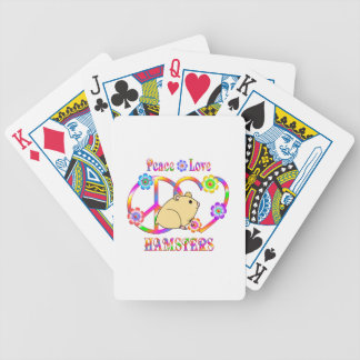 Peace Love Hamsters Bicycle Playing Cards