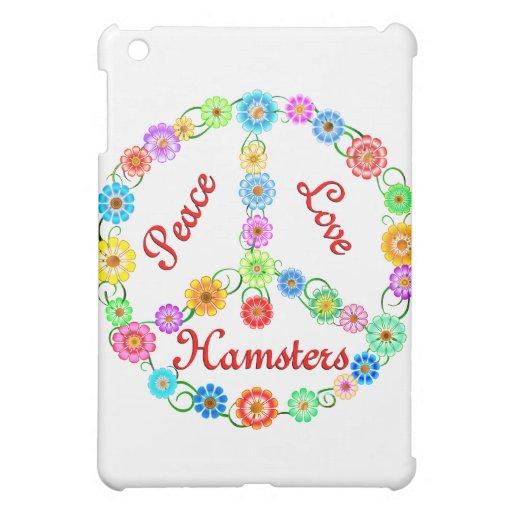 Peace Love Hamsters iPad Mini Cases