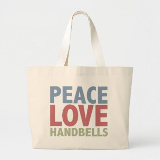 Peace Love Handbells Large Tote Bag