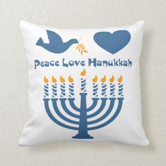 Peace Love Hanukkah Throw Pillow