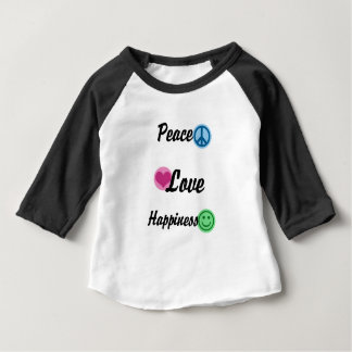 Peace Love Happiness Baby T-Shirt