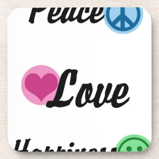 Peace Love Happiness Coaster
