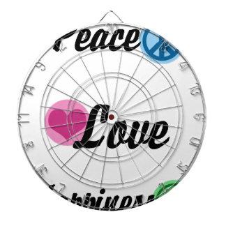 Peace Love Happiness Dartboard