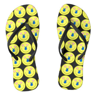 Peace Love Happiness Flip Flops