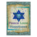 Peace Love Happiness Greeting Card