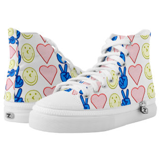 Peace Love Happiness High Tops
