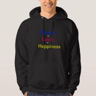 Peace, +, Love, =, Happiness Hoodie