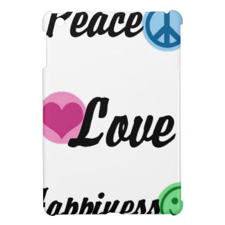 Peace Love Happiness iPad Mini Cover