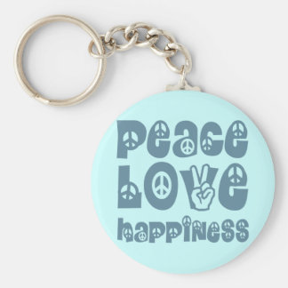 peace love happiness keychains