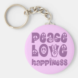 peace love happiness key chains