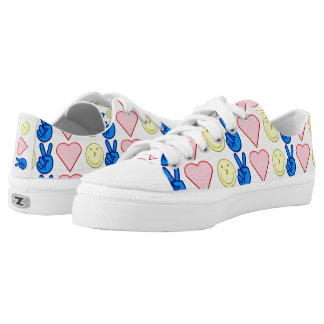 Peace Love Happiness Low-Top Sneakers
