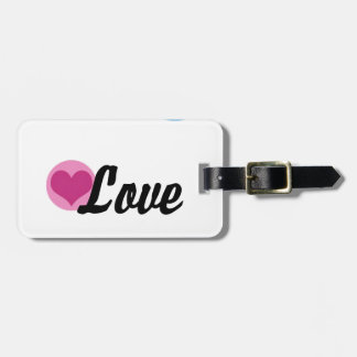 Peace Love Happiness Luggage Tag