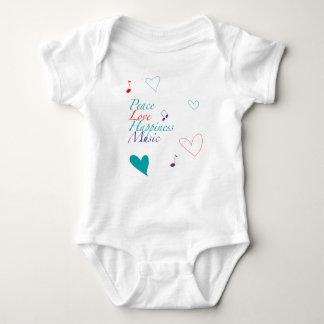 Peace Love Happiness Music T-Shirt