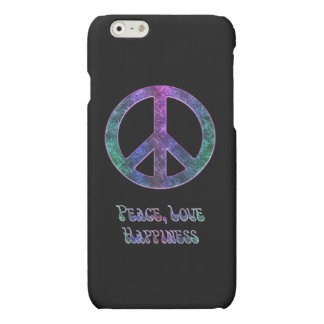 Peace Love Happiness Peace Sign iPhone 6 Case