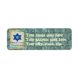 Peace Love Happiness Return Address Label