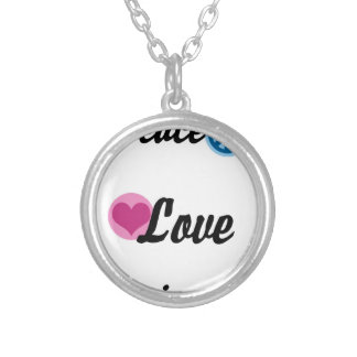 Peace Love Happiness Silver Plated Necklace