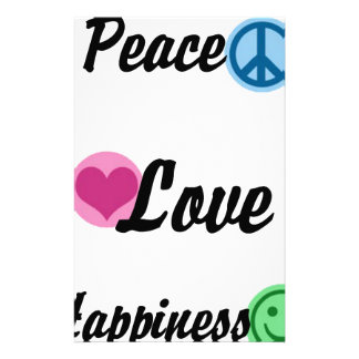 Peace Love Happiness Stationery
