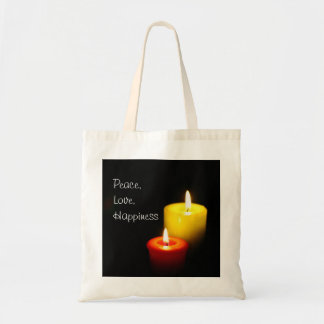 Peace, Love, Happiness Tote Bag