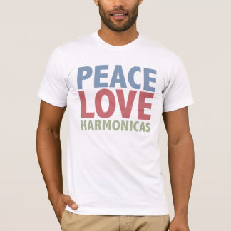 Peace Love Harmonicas T-Shirt