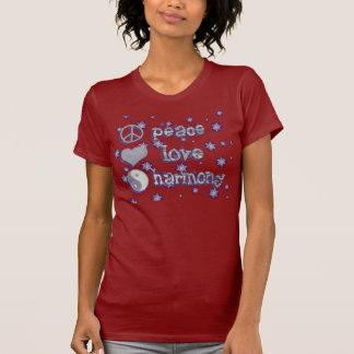 """Peace, Love & Harmony """"t"""" T-Shirt"""