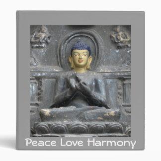 Peace Love Harmony with Buddha 3 Ring Binders