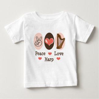 Peace Love Harp Baby T-shirt