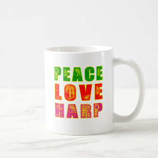 Peace Love Harp Coffee Mug