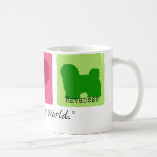 Peace Love Havanese Coffee Mug