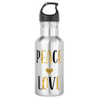 Peace Love Heart 532 Ml Water Bottle