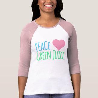 Peace Love Heart Green Juice T-Shirt