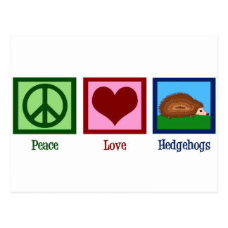 Peace Love Hedgehogs Postcard