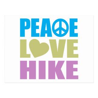 Peace Love Hike Postcard
