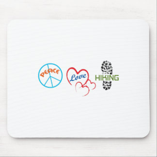Peace Love Hiking Mouse Pads