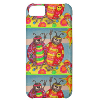 Peace & Love Hippie Lady Bug Art iPhone 5C Cover
