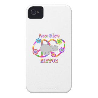 Peace Love Hippos iPhone 4 Case