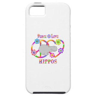 Peace Love Hippos iPhone 5 Case