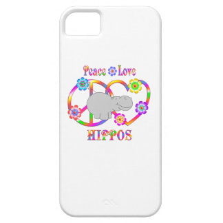 Peace Love Hippos iPhone 5 Cases