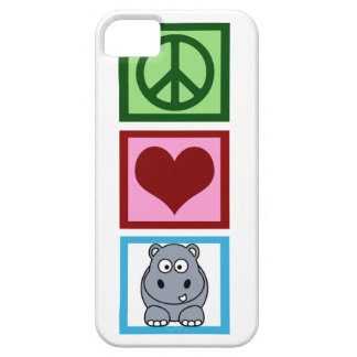 Peace Love Hippos iPhone 5 Cover