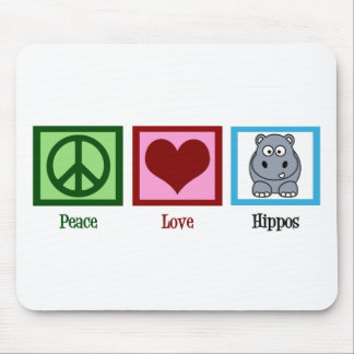 Peace Love Hippos Mouse Pad